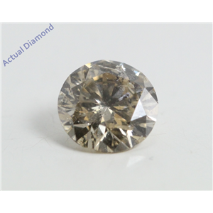 Round Cut Loose Diamond (0.9 Ct, Natural Fancy Champagne Color, SI2 Clarity) IGL Certified