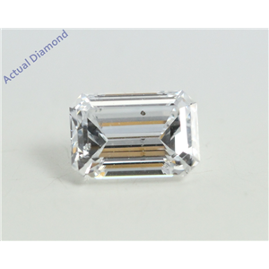 Emerald Cut Loose Diamond (0.78 Ct, D Color, SI2 Clarity) GIA Certified