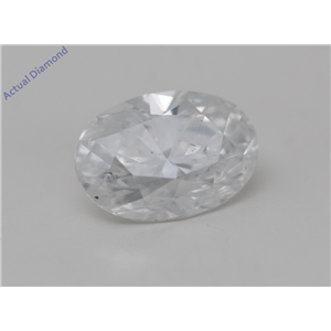 Oval Cut Loose Diamond (0.81 Ct, D Color, I1 Clarity) GIA Certified