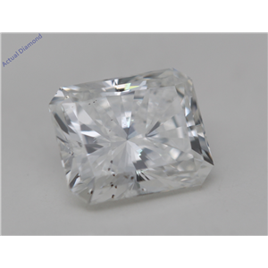 Radiant Cut Loose Diamond (0.59 Ct, H Color, SI2 Clarity) GIA Certified