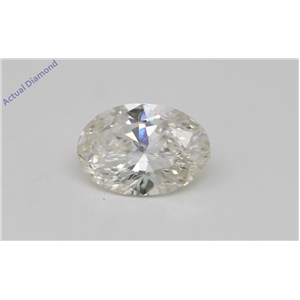 Oval Cut Loose Diamond (0.63 Ct, K Color, SI3 Clarity) IGL Certified