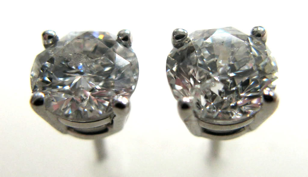 g stud product earrings diamond gia clarity cttw round f platinum prong color certified