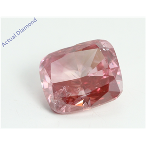 Cushion Cut Loose Diamond (2.02 Ct, Fancy Pinkish Purple(HPHT Color Treated) Color, I1 Clarity) IGL Certified