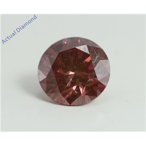 Round Cut Loose Diamond (1.68 Ct, Fancy Pinkish Purple(HPHT Color Treated) Color, SI2 Clarity) IGL Certified