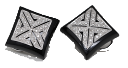 Art Deco inspired diamond earrings