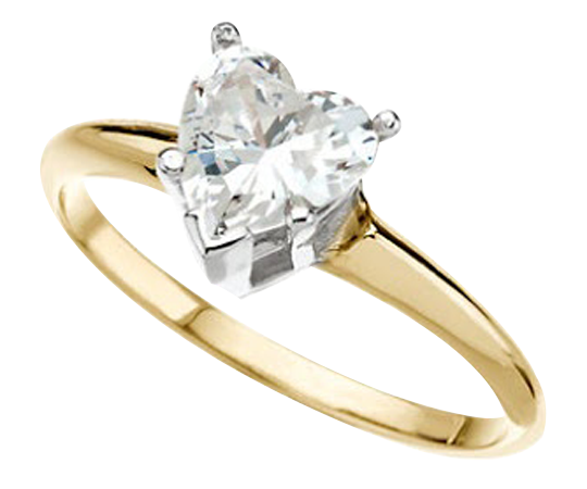 Solitaire Heart Cut Diamond Engagement Ring
